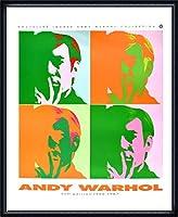 ポスター アンディ ウォーホル セルフポートレート 額装品 ウッドハイグレードフレーム(ネイビー)