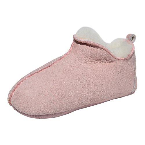 Hollert Lammfell Hausschuhe - Bali ROSA Damen Fellschuhe Winterschuhe Bettschuhe Lederschuhe warme Schuhe Größe EUR 40