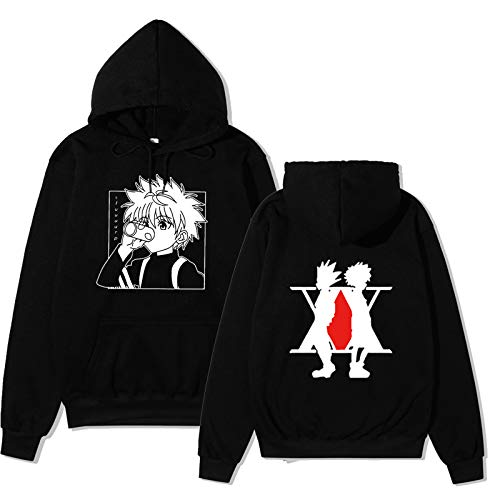 HxH Anime Hunter X Hunter Killua Sudadera con Capucha algodón Pullover Streetswear Hoodie