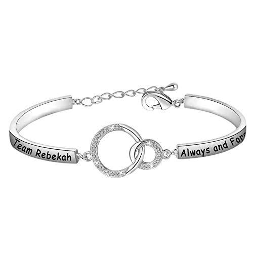 POTIY Vampire Diaries Fans Gift Vampire Diaries Inspired Jewelry Team Klaus Elijah Rebekah Always and Forever Bracelet for Women Girls (Rebekah-Silver)
