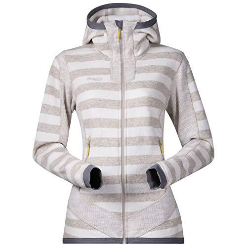 Bergans hollvin Wool Veste S Cream/Light Beige Striped