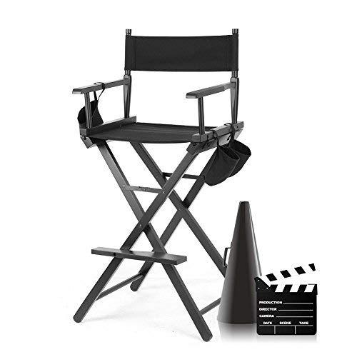 Silla de Maquillaje Profesional Silla de Director de Cine Durable Plegable de Madera Taburete de Maquillador Silla de Trabajo Ligera Portátil