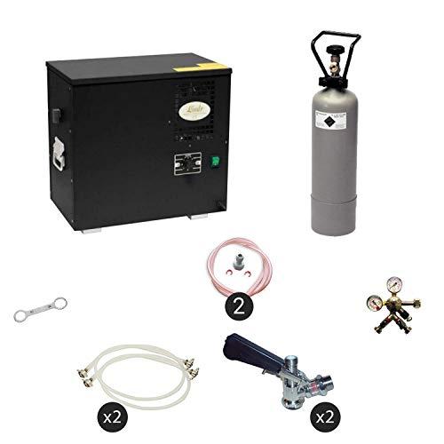 ich-zapfe Dispensador de Cerveza AS-40, refrigerador húmedo de 2 líneas, KEG:sin, KEG 2:sin