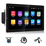 Android 9.1 Multifunction Double Din 10 '' Car Stereo Video Receiver GPS Navigation for Car HD Touchscreen Bluetooth FM Radio Car Player Support Rear View & Mirror Link with Backup Camera