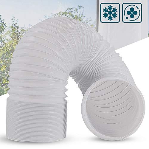 Topwon Mobiele airconditioner, uittrekbare afvoerslang, van polypropyleen, diameter 5,9 inch, met lengte 150 cm, mobiele airconditioning, verlenging