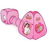 Peradix 3 en 1 Tienda Campaña Infantil, Casitas y Tunel de Juego para niños, Tunel Infantil con Canasta y Bolas, Jugar Tienda para Interiores/Exteriores Playhouse