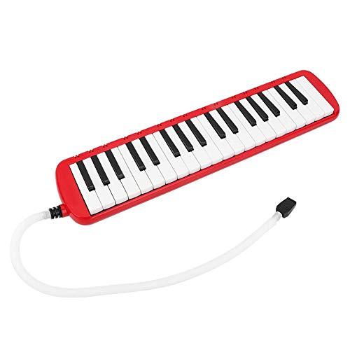 Valentines Day Presentmet lang/kort mondstuk Pianotoetsen Melodica, met opbergtas toneelvoorstelling voor spelen en leren voor kinderen en volwassenen Beginnersliefhebber(red)