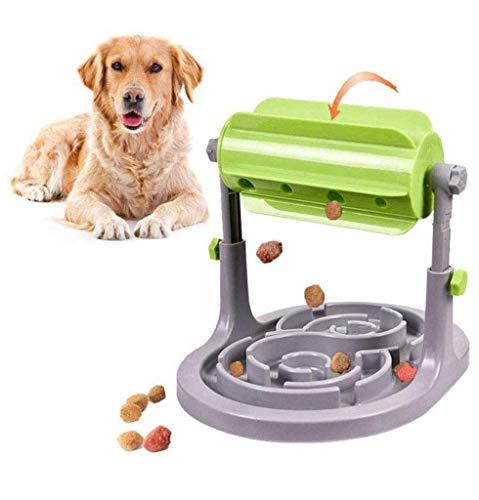 Alsanda Interaktives Hundespielzeug Welpenspielzeug Futternapf 2in1 für Hunde und Katzen   Gesunder Snackspender   Intelligenzspielzeug für Hunde   Mit Anti Schling Napf   BPA-Frei