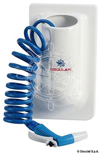 Osculati Vertikaler Behälter m. Spiralwasserschlauch 15'