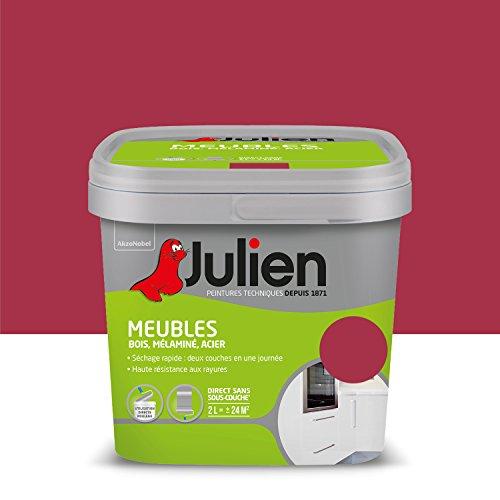 Peinture Julien pour Meubles - Brillant Framboise 2 L