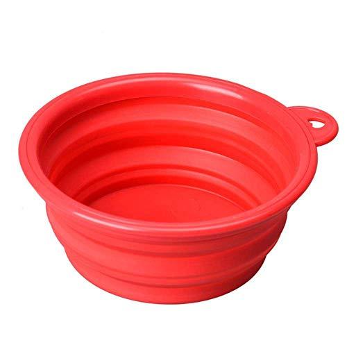 MLOZS Grundlagen Stab Eisen Halter Tragbare Reise Faltbare Silikon Haustiere Schüssel Wasser Fütterung BPA Faltbare Tasse Teller Für Hunde Katzen L * 5, A, M Waschbar (Color : B, Size : M)