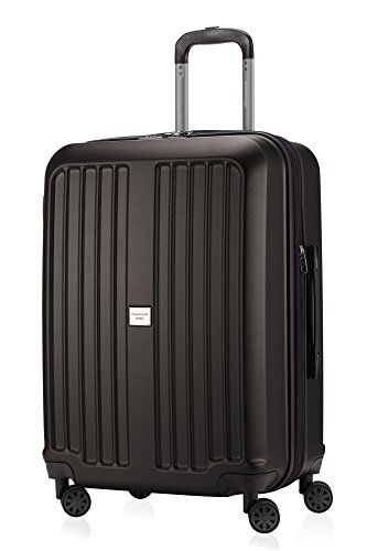 HAUPTSTADTKOFFER - X-Berg - Carry on luggage On-Board Suitcase Cabin Bag Hardside Spinner Trolley 4 Wheel, TSA, 55 cm,Graphite mat