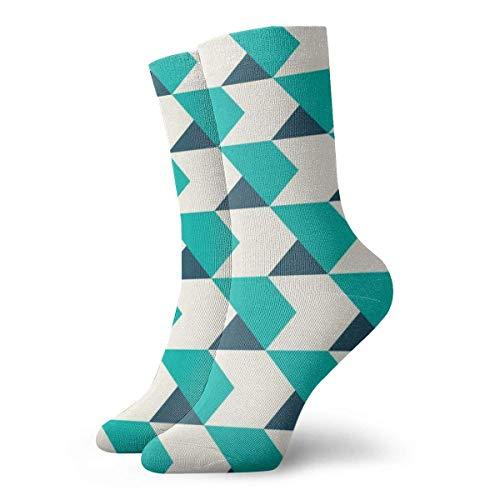 QUEMIN Arrow Geometric Floor Green Adult Calcetines cortos Algodn Gym 30 cm Flat Knit Casual Athletic Calcetines deportivos diarios