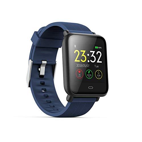 WSJ Q9 Smart-armband met kleurenbeeldscherm, hartslagfrequentie, bloeddruk, gezondheidsbewaking, waterdicht, sport en informatie, intelligente herinnering en andere multifunctionele functie, blauw