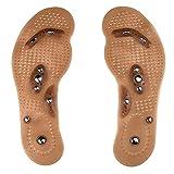 Without Plantillas de acupresión de Masaje de Terapia magnética para Zapatos Hombres Mujeres Pedimagen Plantillas Deportivas Transpirables PVC Zapato Pastodding Inserciones