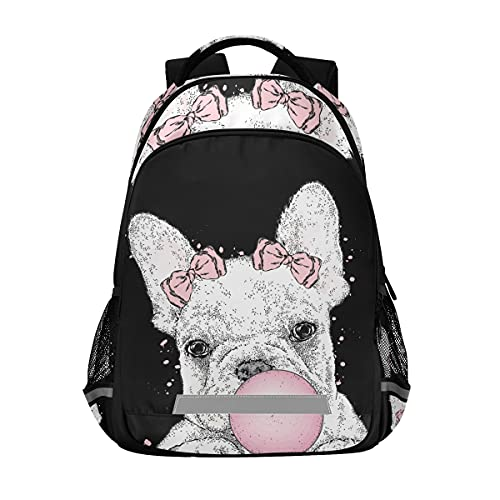 Cute French Bulldog Backpacks Travel Laptop Daypack School Book Bag for Men Women Teens Kids