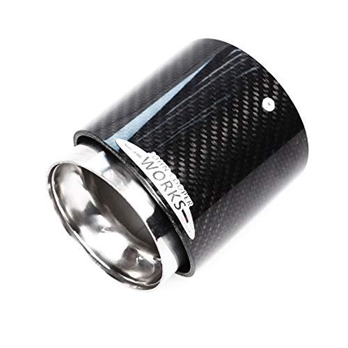 Auspuffblende For Mini Cooper F54 F55 F56 F57 R60 R61 F60 R55 R56 R57 R58 R59 R55 R56 R57 R58 R59 S JCW Carbon Faser Auspuffspitze Rohr Autozubehör Auspuff Endrohr ( Color : F54 F55 F56 F57 F60 )