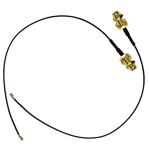2X U.FL Mini PCI a RP-SMA treccia dell'antenna WiFi via cavo