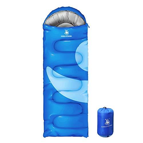 Unbekannt Sac de Couchage Nemo - Léger - Sac de Couchage - Polyvalent - pour Les Saisons - pour Les Hommes et Les Femmes, Bleu