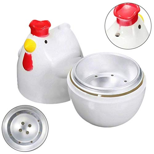 CDFD 1 gekookt ei stoomboot stoomboot stamper magnetron eierkoker kookgereedschap keukengadgets gereedschap, wit, M