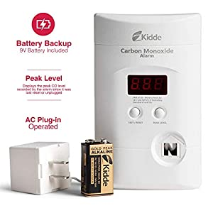 Nighthawk AC Plug-in Operated Carbon Monoxide Alarm with Digital Display KN-COPP-3