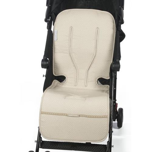 Pasito a Pasito - Colchoneta para silla de paseo de verano universal Laforet en topito beige