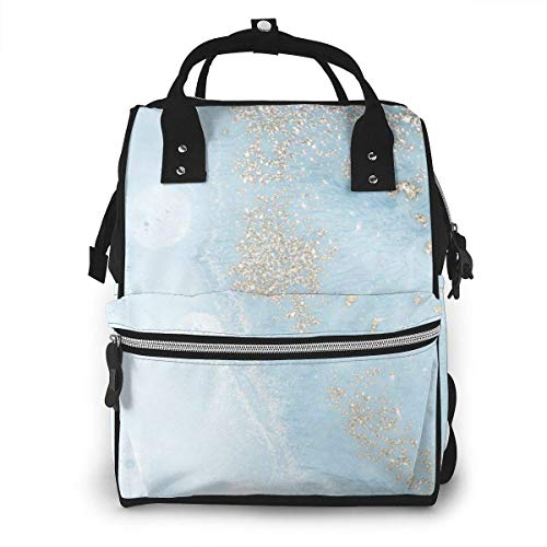 UUwant Sac à Dos à Couches pour Maman Abstract Ocean Art Natural Luxury Diaper Bags Large Capacity Diaper Backpack Travel Nappy Bags Mummy Backpackling