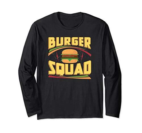 Burger Squad Cheeseburger Feinschmecker-Liebhaber-Team Langarmshirt