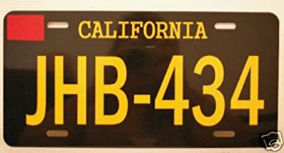 TWO LANE BLACKTOP METAL LICENSE PLATE JHB434 CALIFORNIA 1955 55 CHEVY GASSER HOT ROD MOVIE JAMES TAYLOR BEACH BOYS DENNIS WILSON GARAGE SHOP MAN CAVE BAR GIFT NOVELTY WALL ART STREET RACE GTO ROUTE 66