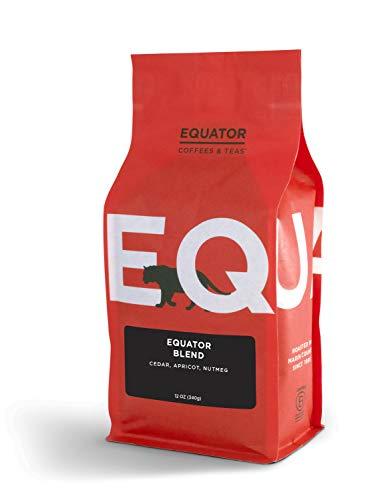 Equator Coffees & Teas Equator Blend, Roasted to Order, Whole Bean Coffee, 12 Ounce bag