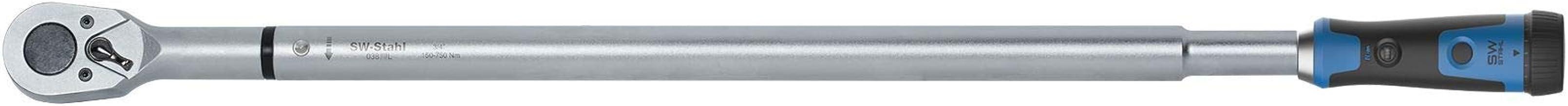 SW-Stahl 03877L professionell vridmomentnyckel 3/4 tum 150–750 Nm med instickningsfyrkant för reparationer av lastbilar/tr...