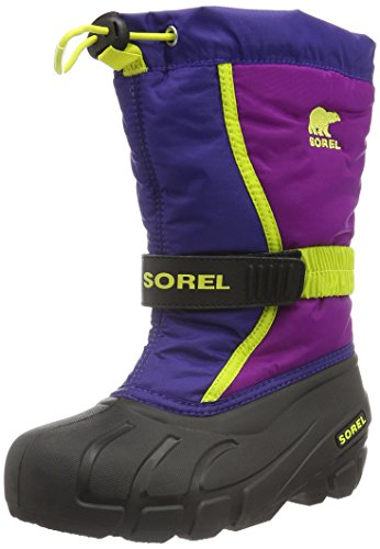 Sorel Jungen Youth Flurry Schneestiefel, Mehrfarbig (Grape Juice/Bright Plum), 36 EU