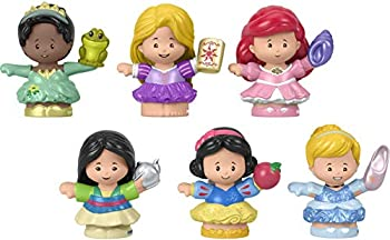 Fisher-Price Disney Princess Gift Set by Little People 6 Character Figures for Toddlers and Preschool Kids Ages 18 Months to 5 Years