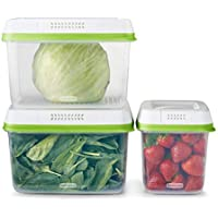 6-Piece Rubbermaid FreshWorks Food Storage Container Set (Clear, 2114737)