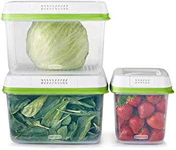 6-Piece Rubbermaid FreshWorks Food Storage Container Set