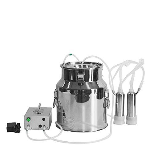 Máquina de ordeño eléctrica Bomba de vacío pulsante automática Ordeñadora de pistón de vacío Máquina de ordeño de parada automática 5L / 7L / 14L para cabra, oveja, vacas, ganado
