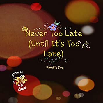 Never Too Late (Until Its Too Late)