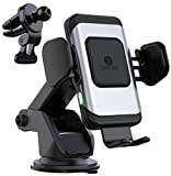 ZeeHoo Wireless Car Charger,10W Qi Fast Charging Auto-Clamping Car Mount,Windshield Dash Air Vent Phone Holder Compatible for i Phones 11/11 Pro Max/XS/X/8/,Samsung S10/S9/S8