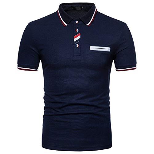 Willlly Polo Shirt Mens Zomer Lapel Kleur Casual Chic Blok Korte Mouw Polo Shirt Mode Casual Dagelijks Uitgaan Slim Fit Sport Polo Shirts Tops Basic