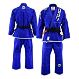 Malino Profesional brasileño Jiu Jitsu Gi Traje Azul BJJ Uniforme Perla Tejido Algodón 450 Gsm, Pantalones 10oz Ripstop Tamaño A2