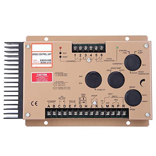 Unidad controladora de velocidad del motor diesel ESD5330E DC 12V/24V Tablero de control de velocidad electrónico con 2 interruptores para generador
