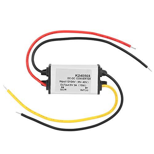 SANON Dc-Dc 12V / 24V to 5V 3A Buck Convertidor Reductor Módulo de Fuente de Alimentación