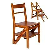 Sgabelli con gradino Scale di legno Passo, sgabello, disegno ergonomico, lucidato a mano Albero del caucci in legno massello, Resiste 550 lb Scale a pioli