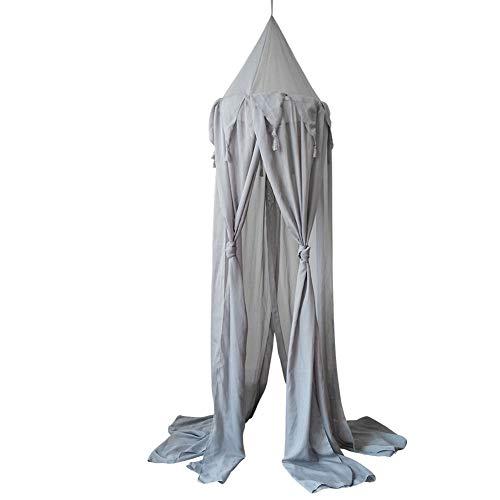 CCZMD Wiszący namiot do tiulu, szyfonu, moskitiery, dla dzieci i dzieci, baldachim okrągłym, kopuła, wisząca moskitiera, dekoracja sypialni, wymiary: 240 x 50 cm