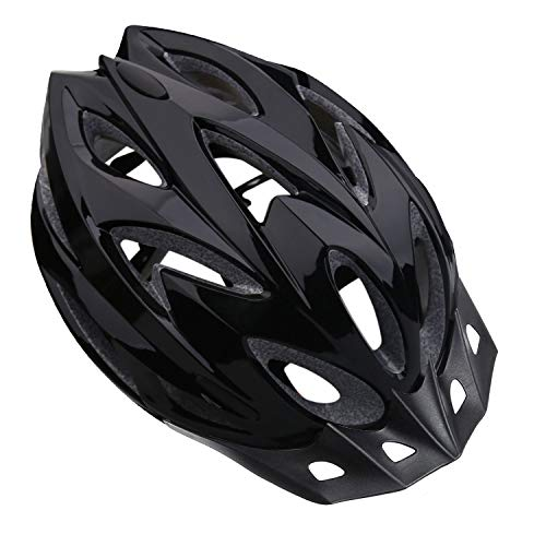 Shinmax Bike Helmet, CPSC Safety Certified Bicycle Helmet for Men/Women with Detachable Sun Visor&Portable Bag Lightweight Cycling Helmet Adjustable Size for Adult Mountain Road (Black)