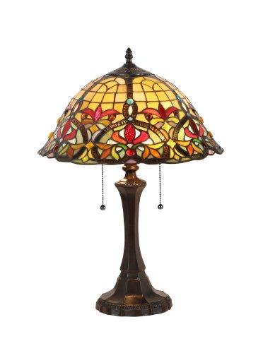 chloe lighting table lamps Chloe Lighting CH33389VR16-TL2 Bertram Tiffany-Style Victorian 2 Light Table Lamp 18-Inch Shade
