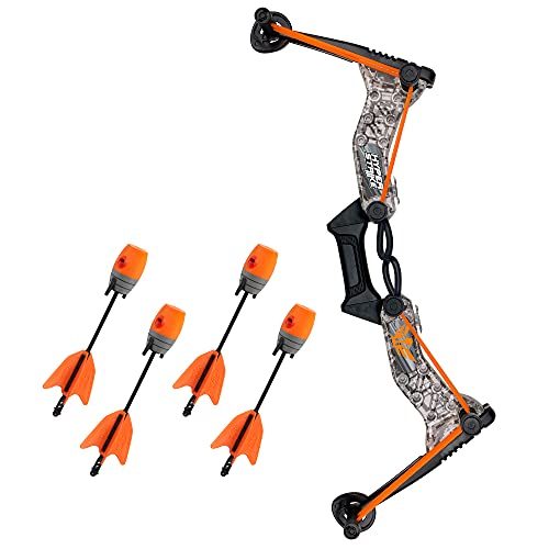 Zing HyperStrike Bow Archer Pack, 1 Gray Digital Camo Bow with Orange...