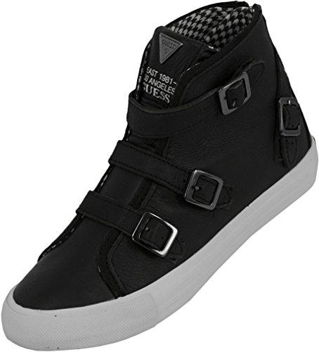 Guess Deidra - Zapatillas de Cuero para Mujer, Color Negro, Talla 36 EU