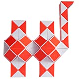 Mipartebo Magic Snake Cube Twist Puzzle 72 Wedges Brain Teaser Game Fidget Sensory Toys Party Favors for Kids Orange