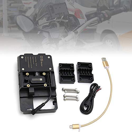 Festnight Accessori per Staffa di Navigazione per Telefono Cellulare con Caricatore USB per BMW R1200GS LC e Adventure S1000XR R1200RS